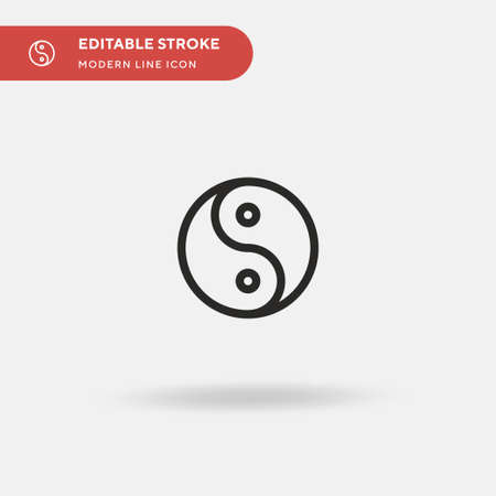 Yin Yang Simple vector icon. Illustration symbol design template for web mobile UI element. Perfect color modern pictogram on editable stroke. Yin Yang icons for your business project