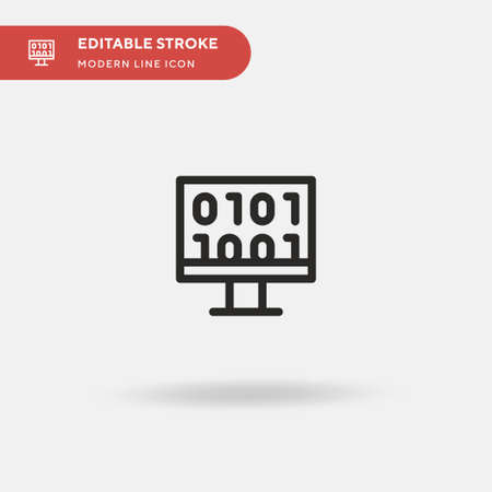 Binary Code Simple vector icon. Illustration symbol design template for web mobile UI element. Perfect color modern pictogram on editable stroke. Binary Code icons for your business project
