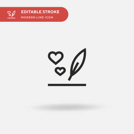 Message Simple vector icon. Illustration symbol design template for web mobile UI element. Perfect color modern pictogram on editable stroke. Message icons for your business project Иллюстрация