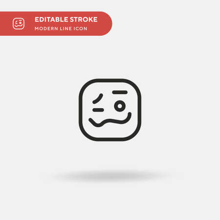 Intoxicated Simple vector icon. Illustration symbol design template for web mobile UI element. Perfect color modern pictogram on editable stroke. Intoxicated icons for your business project