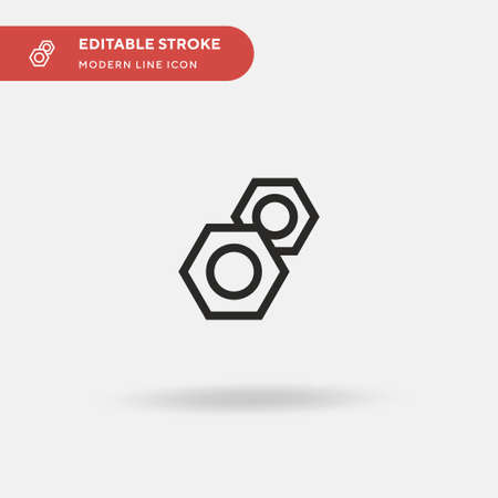 Nuts Simple vector icon. Illustration symbol design template for web mobile UI element. Perfect color modern pictogram on editable stroke. Nuts icons for your business project