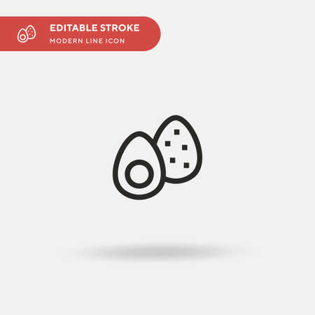 Avocado Simple vector icon. Illustration symbol design template for web mobile UI element. Perfect color modern pictogram on editable stroke. Avocado icons for your business project
