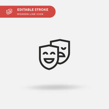 Masks Simple vector icon. Illustration symbol design template for web mobile UI element. Perfect color modern pictogram on editable stroke. Masks icons for your business project Çizim