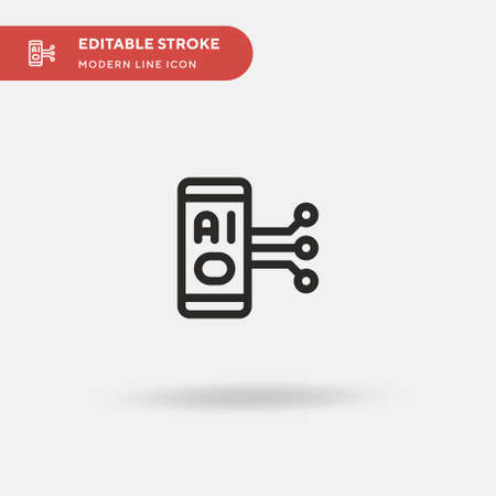 Chatbot Simple vector icon. Illustration symbol design template for web mobile UI element. Perfect color modern pictogram on editable stroke. Chatbot icons for your business project
