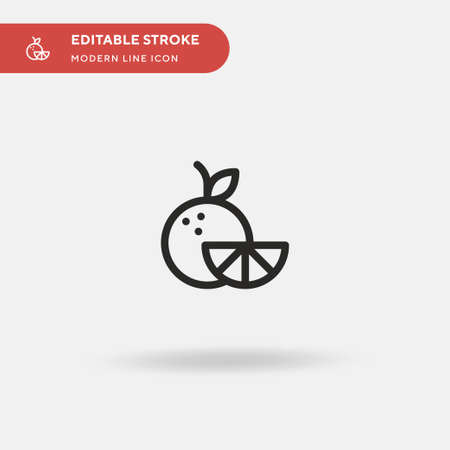 Orange Simple vector icon. Illustration symbol design template for web mobile UI element. Perfect color modern pictogram on editable stroke. Orange icons for your business project Ilustrace