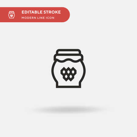 Honey Simple vector icon. Illustration symbol design template for web mobile UI element. Perfect color modern pictogram on editable stroke. Honey icons for your business project Stock Illustratie