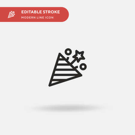 Confetti Simple vector icon. Illustration symbol design template for web mobile UI element. Perfect color modern pictogram on editable stroke. Confetti icons for your business project