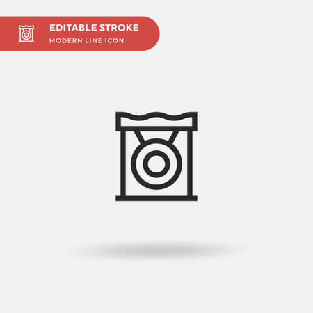 Gong Simple vector icon. Illustration symbol design template for web mobile UI element. Perfect color modern pictogram on editable stroke. Gong icons for your business project