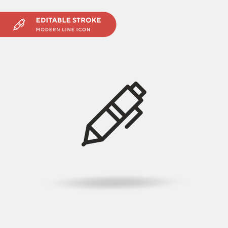 Pen Simple vector icon. Illustration symbol design template for web mobile UI element. Perfect color modern pictogram on editable stroke. Pen icons for your business project Banque d'images - 150880034