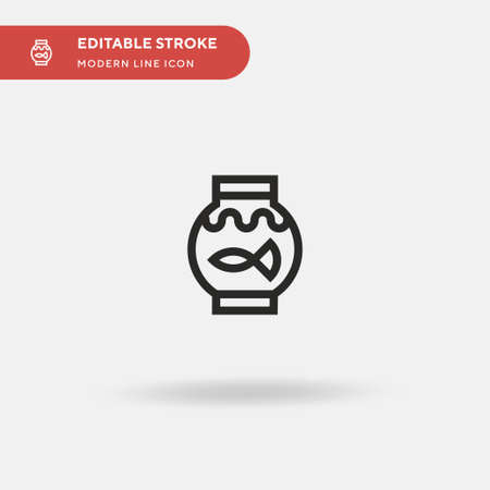 Fish Simple vector icon. Illustration symbol design template for web mobile UI element. Perfect color modern pictogram on editable stroke. Fish icons for your business project