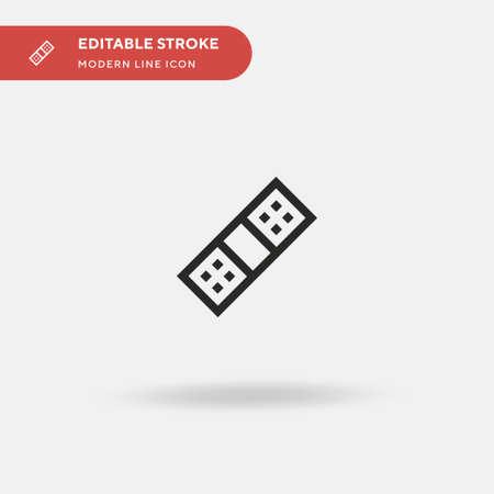 bandage Simple vector icon. Illustration symbol design template for web mobile UI element. Perfect color modern pictogram on editable stroke.