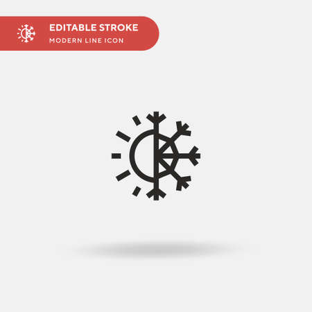 Season Simple vector icon. Illustration symbol design template for web mobile UI element. Perfect color modern pictogram on editable stroke. Season icons for your business project