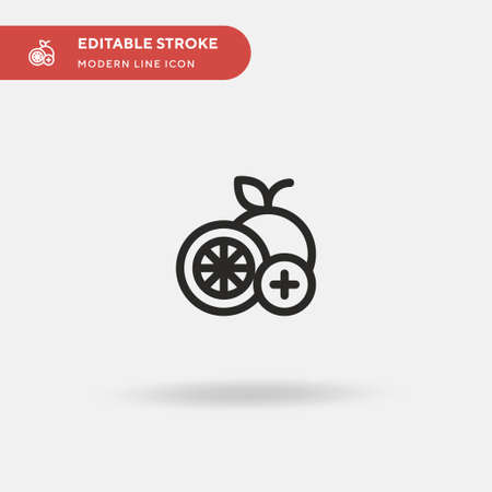 Orange Simple vector icon. Illustration symbol design template for web mobile UI element. Perfect color modern pictogram on editable stroke. Orange icons for your business project Ilustracja