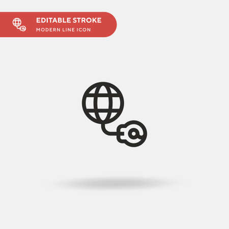 Internet Simple vector icon. Illustration symbol design template for web mobile UI element. Perfect color modern pictogram on editable stroke. Internet icons for your business project