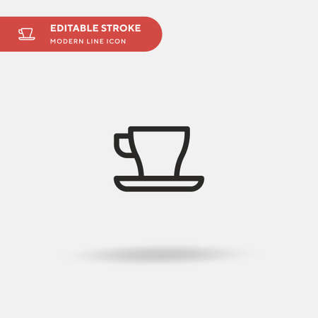 Coffee Cup Simple vector icon. Illustration symbol design template for web mobile UI element. Perfect color modern pictogram on editable stroke. Coffee Cup icons for your business project Illustration