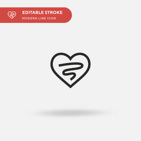 Heart Simple vector icon. Illustration symbol design template for web mobile UI element. Perfect color modern pictogram on editable stroke. Heart icons for your business project Ilustracja