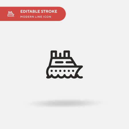 Ship Simple vector icon. Illustration symbol design template for web mobile UI element. Perfect color modern pictogram on editable stroke. Ship icons for your business project 向量圖像