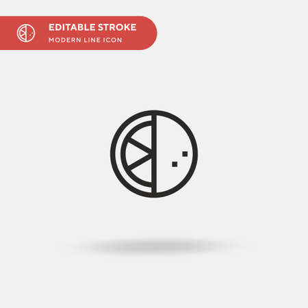 Grapefruit Simple vector icon. Illustration symbol design template for web mobile UI element. Perfect color modern pictogram on editable stroke. Grapefruit icons for your business project Ilustrace