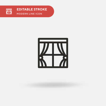 Window Simple vector icon. Illustration symbol design template for web mobile UI element. Perfect color modern pictogram on editable stroke. Window icons for your business project 일러스트