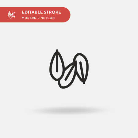 Wheat Grain Simple vector icon. Illustration symbol design template for web mobile UI element. Perfect color modern pictogram on editable stroke. Wheat Grain icons for your business project