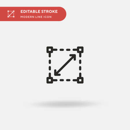 Scalability Simple vector icon. Illustration symbol design template for web mobile UI element. Perfect color modern pictogram on editable stroke. Scalability icons for your business project