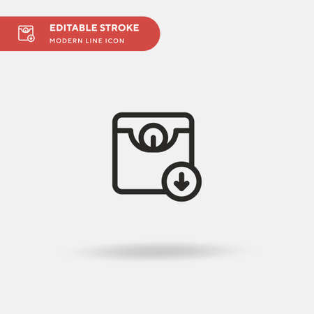 Weight Simple vector icon. Illustration symbol design template for web mobile UI element. Perfect color modern pictogram on editable stroke. Weight icons for your business project