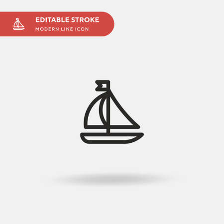 Sailing Boat Simple vector icon. Illustration symbol design template for web mobile UI element. Perfect color modern pictogram on editable stroke. Sailing Boat icons for your business project 向量圖像