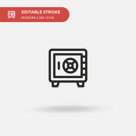 Safe Box Simple vector icon. Illustration symbol design template for web mobile UI element. Perfect color modern pictogram on editable stroke. Safe Box icons for your business project