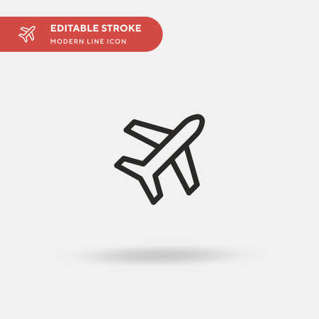 Plane Simple vector icon. Illustration symbol design template for web mobile UI element. Perfect color modern pictogram on editable stroke. Plane icons for your business project 일러스트