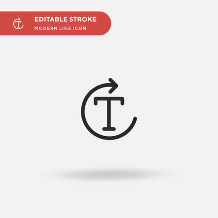 Rotate Simple vector icon. Illustration symbol design template for web mobile UI element. Perfect color modern pictogram on editable stroke. Rotate icons for your business project