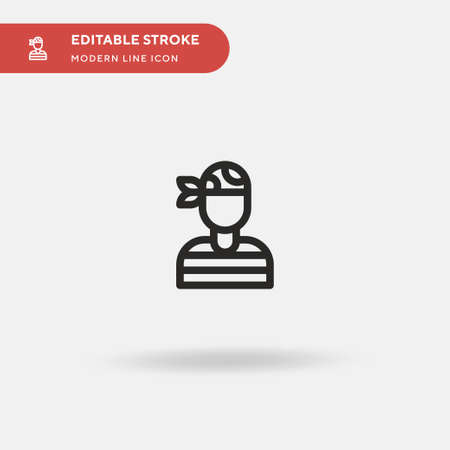 Pirate Simple vector icon. Illustration symbol design template for web mobile UI element. Perfect color modern pictogram on editable stroke. Pirate icons for your business project Illustration