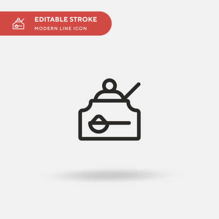 Sugar Simple vector icon. Illustration symbol design template for web mobile UI element. Perfect color modern pictogram on editable stroke. Sugar icons for your business project Vectores
