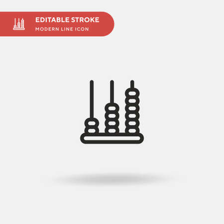 Abacus Simple vector icon. Illustration symbol design template for web mobile UI element. Perfect color modern pictogram on editable stroke. Abacus icons for your business project Banque d'images - 150891507