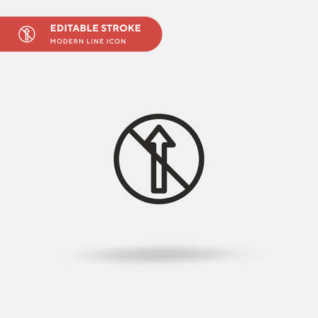 No Straight Simple vector icon. Illustration symbol design template for web mobile UI element. Perfect color modern pictogram on editable stroke. No Straight icons for your business project