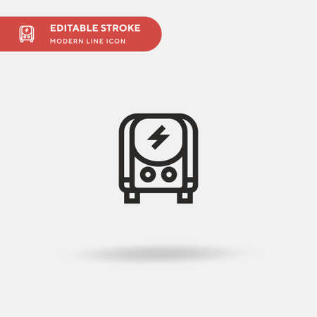 Electric Transport Simple vector icon. Illustration symbol design template for web mobile UI element. Perfect color modern pictogram on editable stroke.