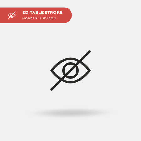 Hidden Simple vector icon. Illustration symbol design template for web mobile UI element. Perfect color modern pictogram on editable stroke. Hidden icons for your business project