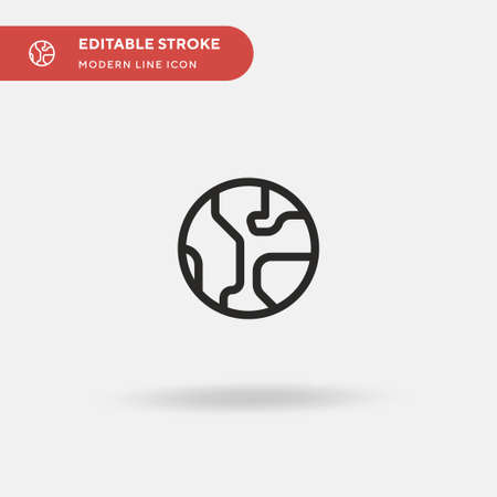 World Simple vector icon. Illustration symbol design template for web mobile UI element. Perfect color modern pictogram on editable stroke. World icons for your business project