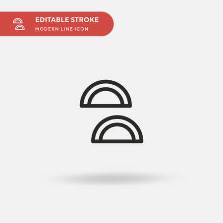 Gujia Simple vector icon. Illustration symbol design template for web mobile UI element. Perfect color modern pictogram on editable stroke. Gujia icons for your business project Illustration