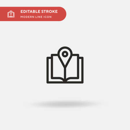 Guide Book Simple vector icon. Illustration symbol design template for web mobile UI element. Perfect color modern pictogram on editable stroke. Guide Book icons for your business project Illustration