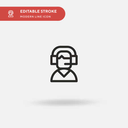 Commentator Simple vector icon. Illustration symbol design template for web mobile UI element. Perfect color modern pictogram on editable stroke. Commentator icons for your business project Иллюстрация