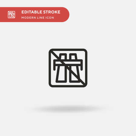 End Motorway Simple vector icon. Illustration symbol design template for web mobile UI element. Perfect color modern pictogram on editable stroke. End Motorway icons for your business project