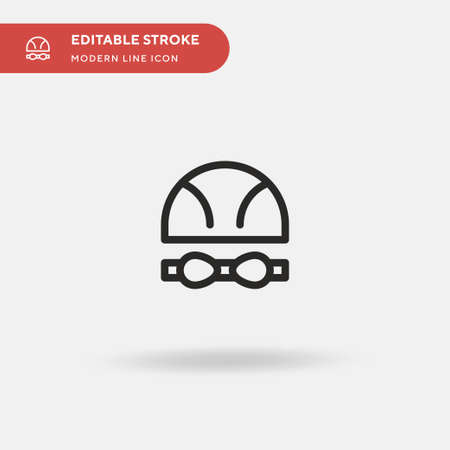Swimmer Simple vector icon. Illustration symbol design template for web mobile UI element. Perfect color modern pictogram on editable stroke. Swimmer icons for your business project