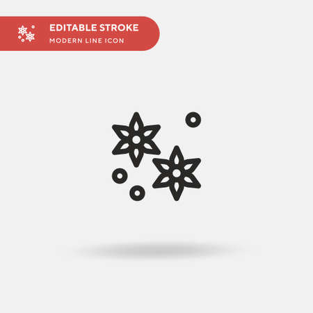 Anise Simple vector icon. Illustration symbol design template for web mobile UI element. Perfect color modern pictogram on editable stroke. Anise icons for your business project