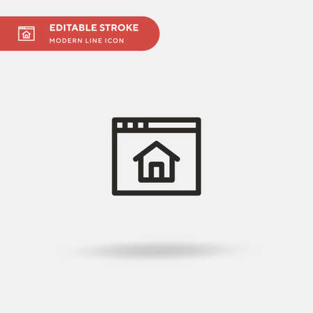 Homepage Simple vector icon. Illustration symbol design template for web mobile UI element. Perfect color modern pictogram on editable stroke. Homepage icons for your business project Ilustracja