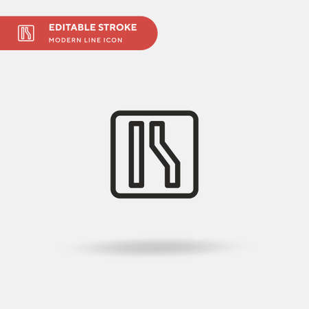 Narrow Simple vector icon. Illustration symbol design template for web mobile UI element. Perfect color modern pictogram on editable stroke. Narrow icons for your business project
