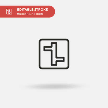Intersection Simple vector icon. Illustration symbol design template for web mobile UI element. Perfect color modern pictogram on editable stroke. Intersection icons for your business project