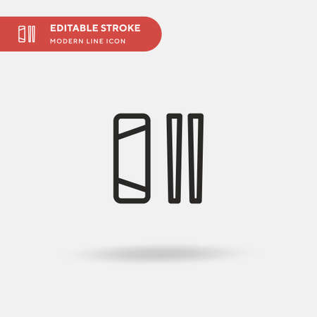 Spring Roll Simple vector icon. Illustration symbol design template for web mobile UI element. Perfect color modern pictogram on editable stroke. Spring Roll icons for your business project Ilustracja