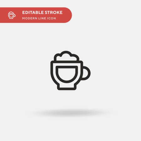 Capuccino Simple vector icon. Illustration symbol design template for web mobile UI element. Perfect color modern pictogram on editable stroke. Capuccino icons for your business project Stock Illustratie