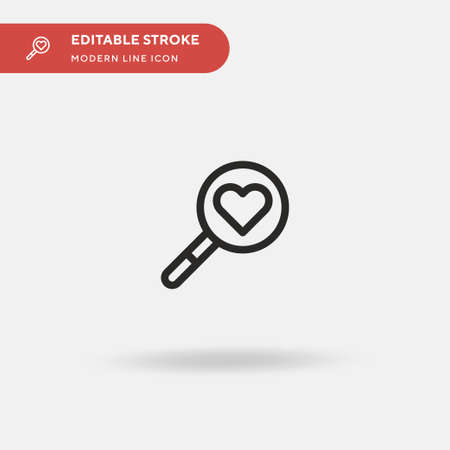 Loupe Simple vector icon. Illustration symbol design template for web mobile UI element. Perfect color modern pictogram on editable stroke. Loupe icons for your business project
