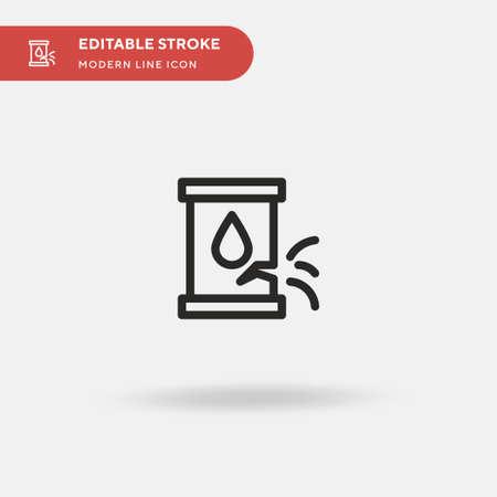 Leak Simple vector icon. Illustration symbol design template for web mobile UI element. Perfect color modern pictogram on editable stroke. Leak icons for your business project Ilustração